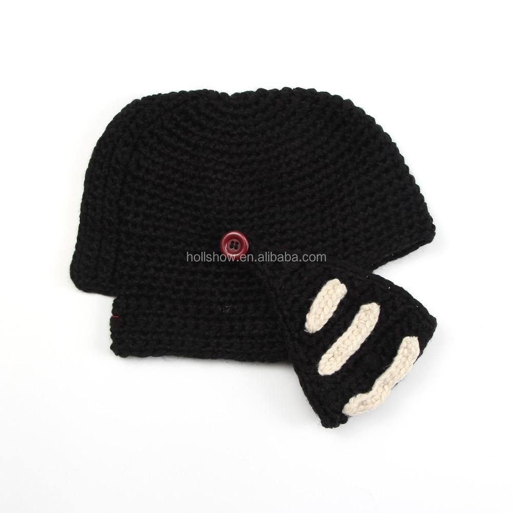 Winter Warm Acrylic Handmade Crochet Pattern Men Beard Beanies Ski