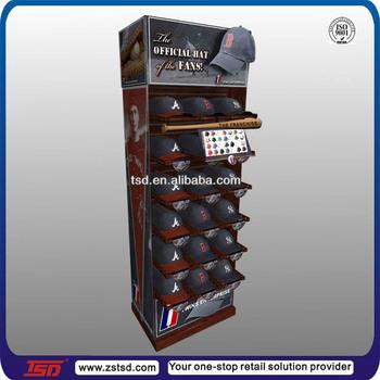 Tsd M701 Free Standing Metal Display Rack For Caps Display