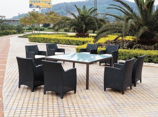 Diseño moderno muebles del patio de mimbre cuadrados juegos de ...