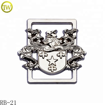Zinc alloy silver luggage accessories metal buckle brand logo bags metal parts