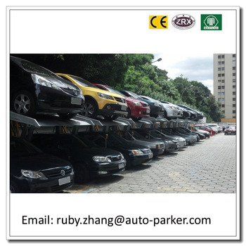 Double Cars Elevated Car Parking Garage Cheap And High Quality 2 Level Mechanical Equipment