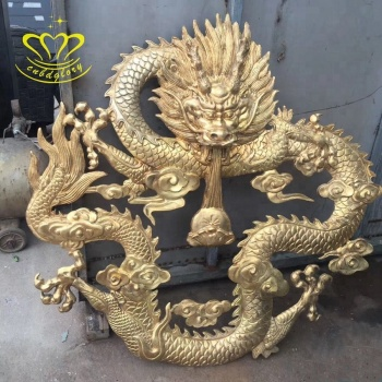 Wholesale Hand Carved New Product Metal Wall Crafts Brass Dragon Sculpture For Garden Home Decor