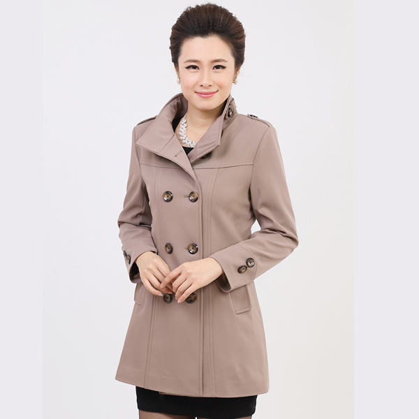 Spring Autumn Style Trench coat 2015 Fashion Casual Slim coats Turn-down collar Double Breasted Trench Coat for women Plus size