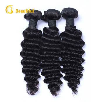 100% raw unprocessed malaysian hair deep wave virgin malaysian human hair weave