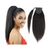 100human hair coarse yaki, kinky straight pony tail 80g
