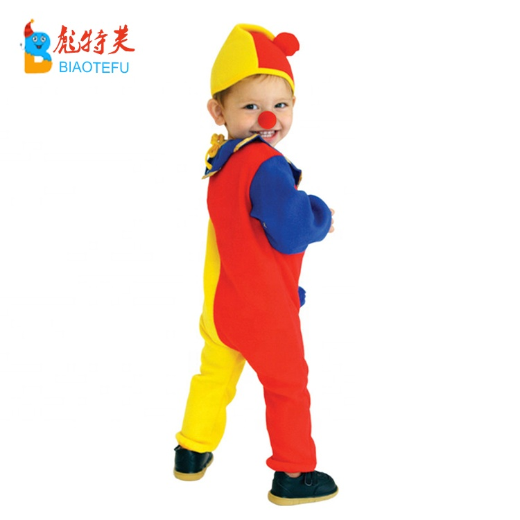 child baby boys clown cosplay jumpsuit costumes