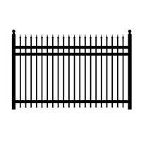 Hot sale high quality steel picket fence for sale