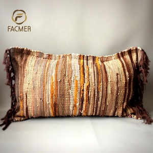 Free Shipping Best Quality 50cmx80cm Tassels Design Rectangle Bolster Throw Cushion Cover