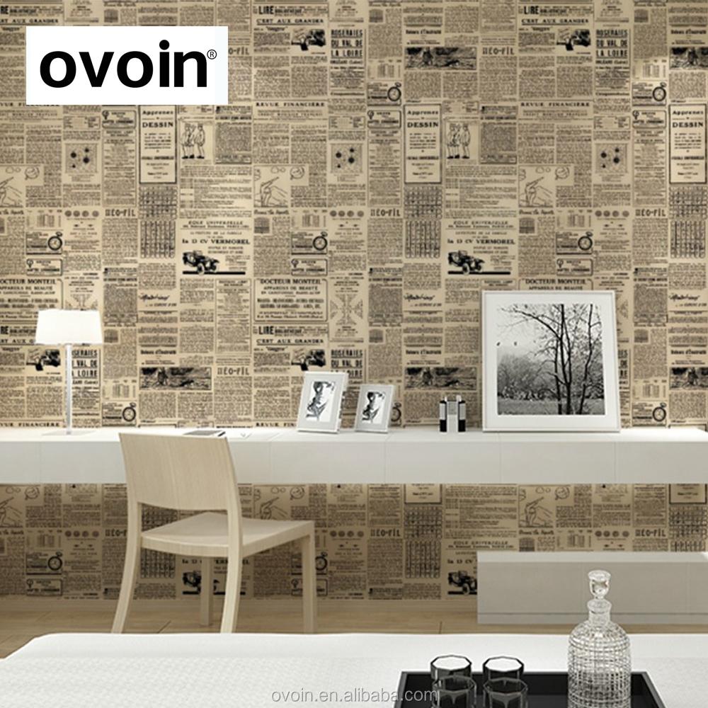 cru anglais lettre textur mur papier journal papier peint rouleau papiers peints enduit de mur. Black Bedroom Furniture Sets. Home Design Ideas