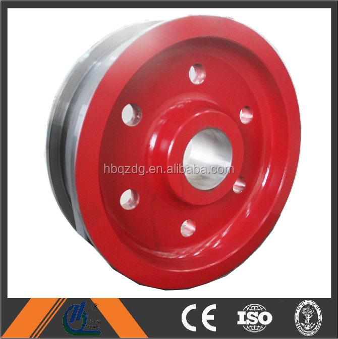 50t crane forged rail wheel made by Henan HuaBei