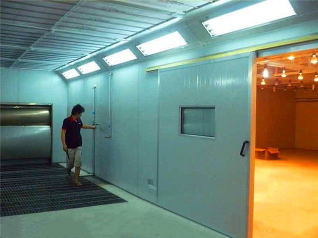 TY-400B Furniture Spray Painting And Drying Booth With Water Curtain For Sale