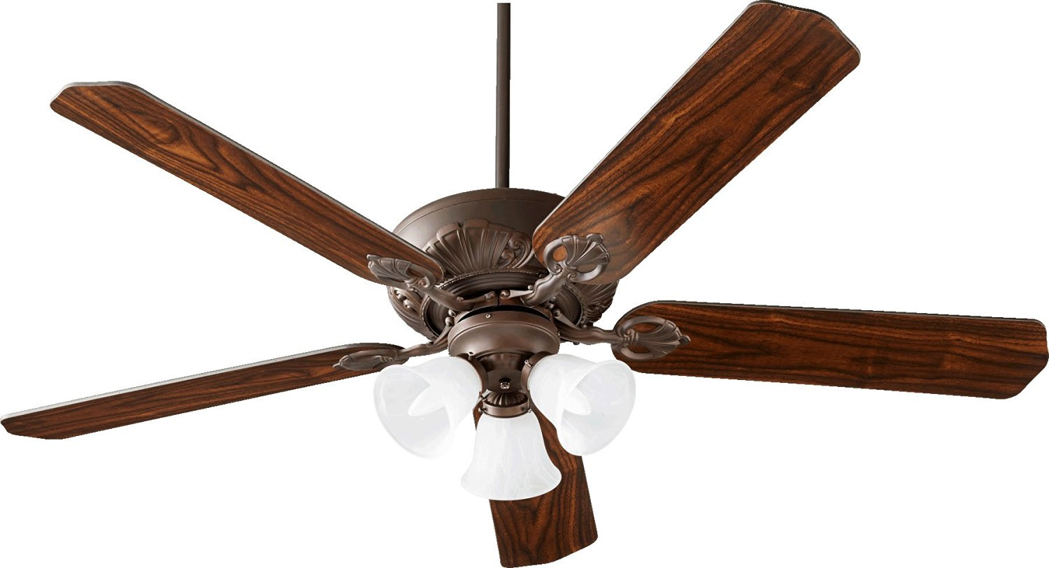 "Quorum 78605-1686, Chateaux Uni-Pack Oiled Bronze 60"" Ceiling Fan with Light"