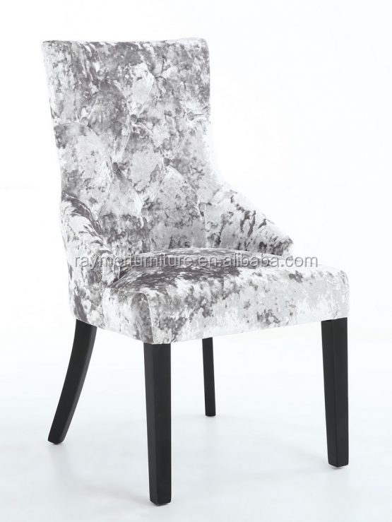 2018 Popular High Grade Silver Crushed Velvet Dining Chair Buy Crushed Velvet Chairs Velvet Tufted Chair Modern Dining Chairs Product On Alibaba Com
