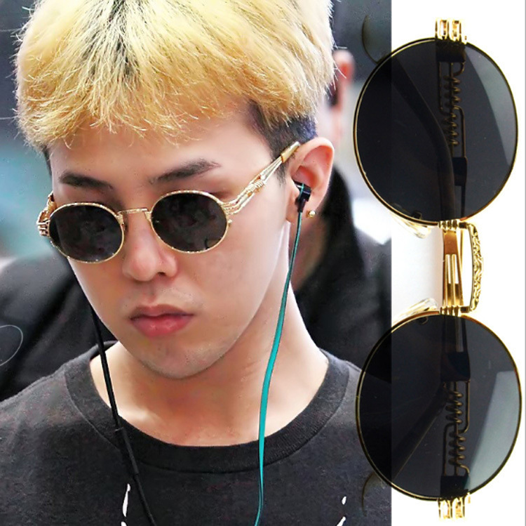 Vintage Matsuda Gd Sunglasses Retro Round Steampunk Sun