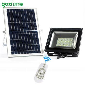 Waterproof 30w 50w Solar Panel Led Light Ed Flood Lights Outdoor For Home Garden Pool