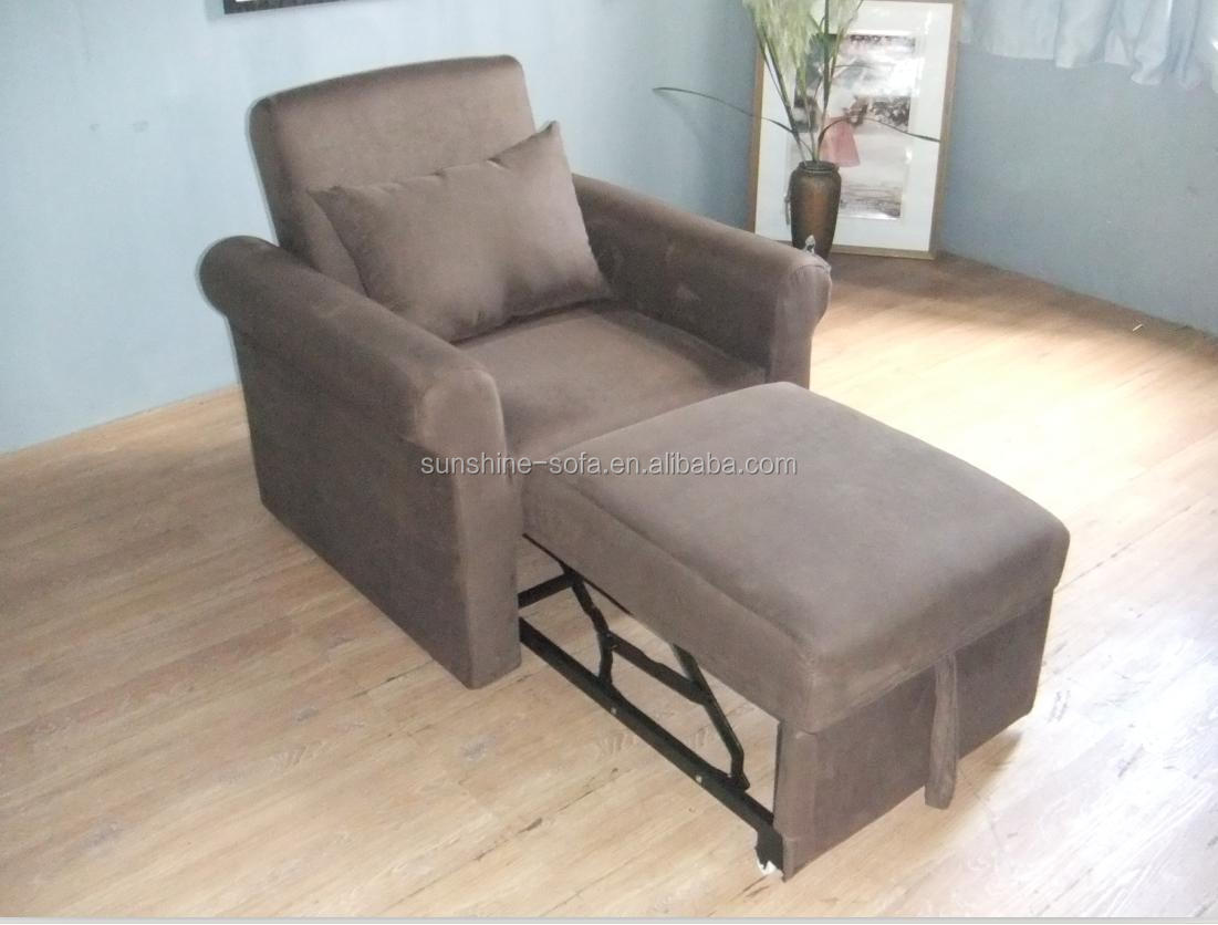 Modern Design Living Room Microfiber Sleeper Sofa Cum Bed Designs With Pillow Top Arms