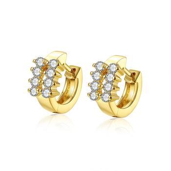 New 2017 Latest Saudi Gold Earring Designs For Women Hoop