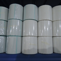 Stock hot melt heat sensitive direct adhesive blank thermal labels rolls