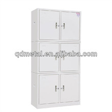 fully welded strong hold steel corner cupboard wardrobe with 6 doors