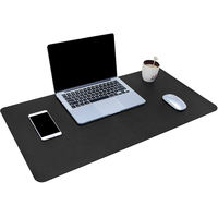 New Design Black Office PU Leather Desk Writing Pad