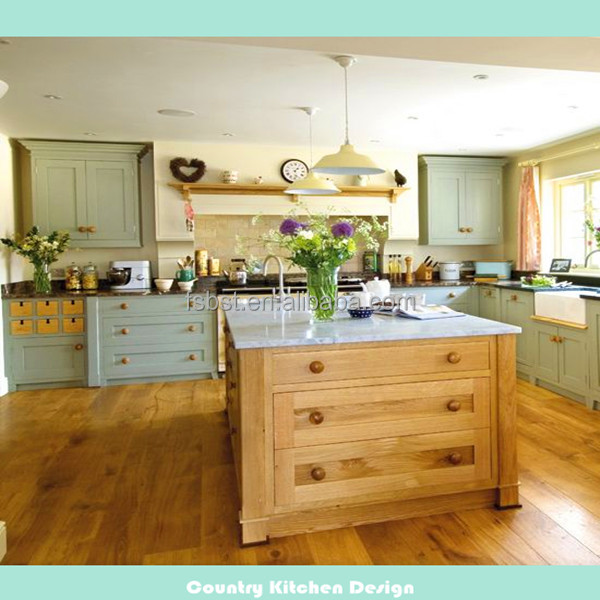 Ak4126 landelijke stijl geschilderd eiken houten keuken groene ...