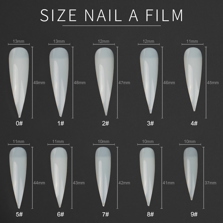 Nail art manicure  French Half-covered Cusp Artificial Fingernails Fake Acrylic Nail Tips