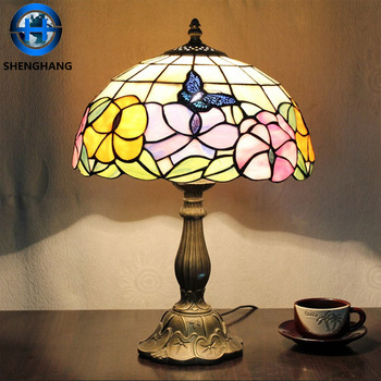 tiffany style mission stained glass lamp tiffany flower table lamp