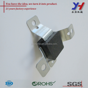 Best quality Customize metal Punched construction buffer rubber part