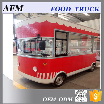 Colored Electric Mobile Food Bus/road kitchen