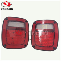 One pair LED Tail Light Assembly Right and left for 76-06 Jeep CJ/Wrangler YJ/TJ