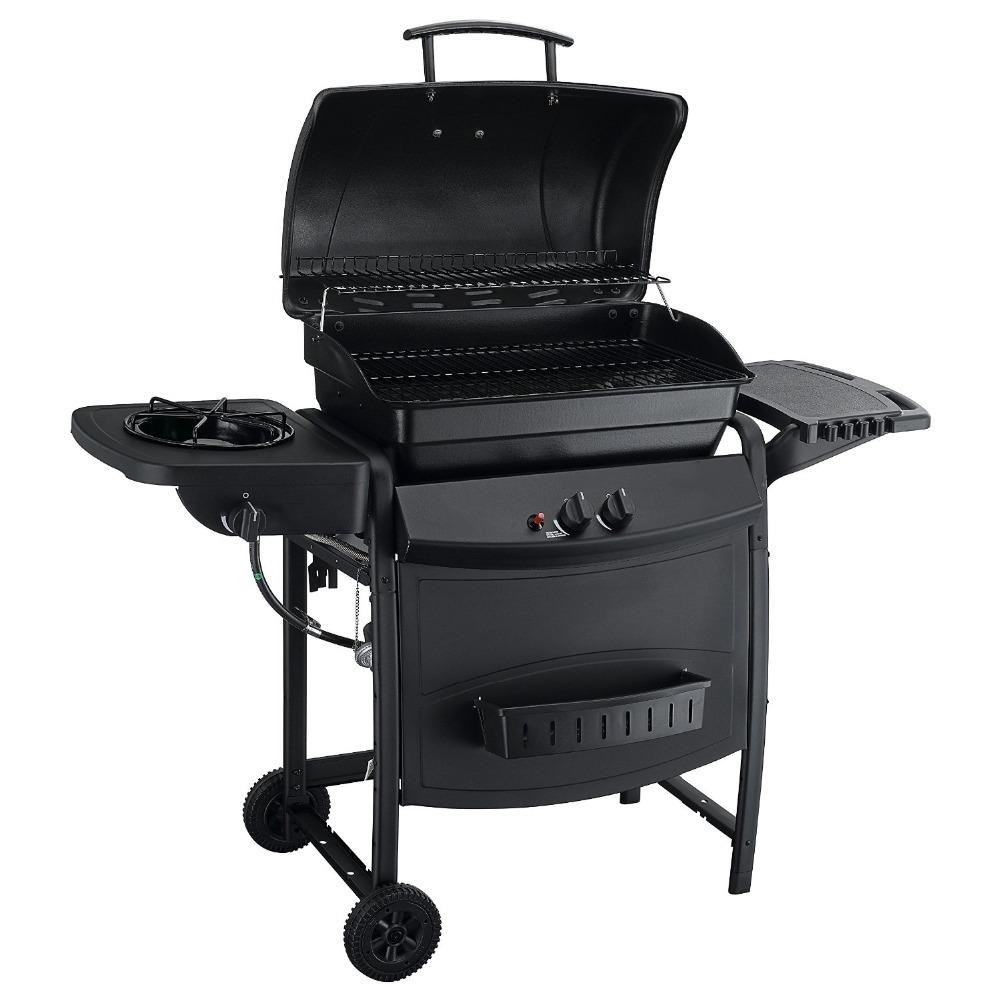 2-burner Bbq Barbecue Propane Gas Grills With Side Burner ...