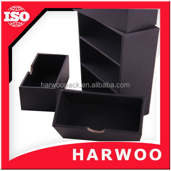 High-end custom paper jewelry box with drawers