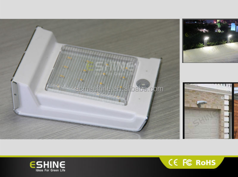 Solar Power Super Bright LED Flagpole Light ,PIR motion sensor solar light Solar LED wall light high quality