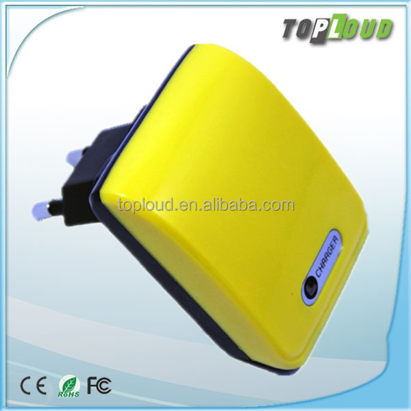 Hot selling Input voltage100-240V AC dual usb travel charger 2 usb