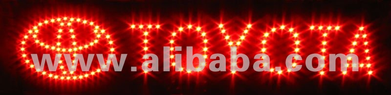 LED sign personalized customized company logo toyota