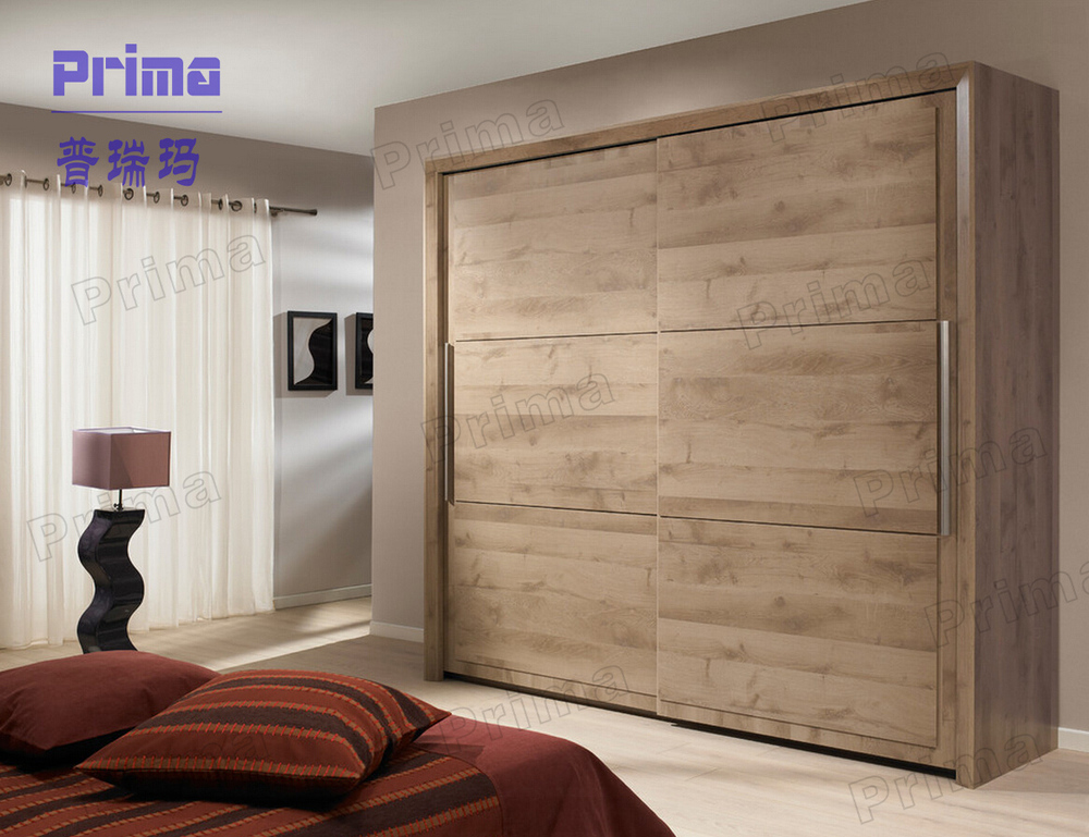Indian wardrobe modern designs bedroom closet wood - Bedroom cabinets with sliding doors ...