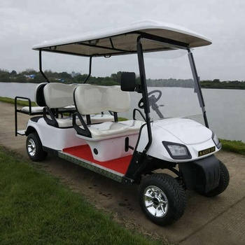 6 Seater Six Persons Seats 4 Wheel Drive Electric Golf Carts