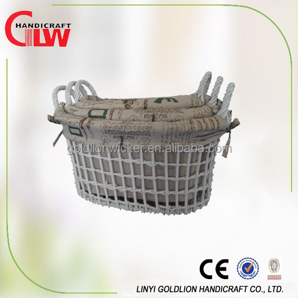 100%Handmade Full Willow Basket With Handles