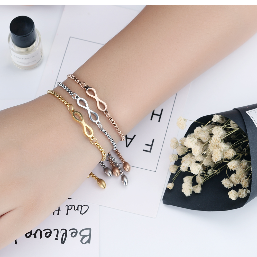 New Arrival 2018 Friendship Fashion Gold Infinity Charm Bracelets For Women In Gold