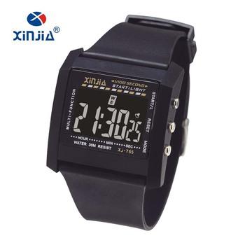 Reloj Deportivo Digital Lcd De Color Negro Multifuncional Simple Para Hombres Reloj Digital De Plástico Más Barato Con Luz Led Buy Reloj Para