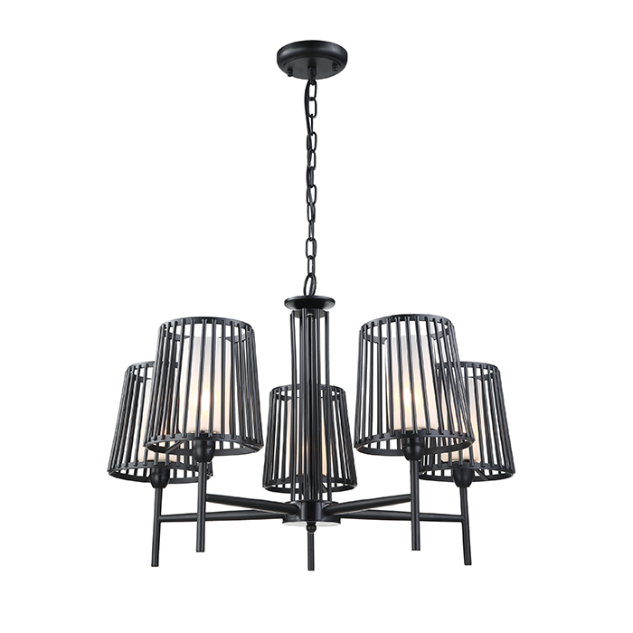 Professional black indoor chandelier lighting & pendant lights