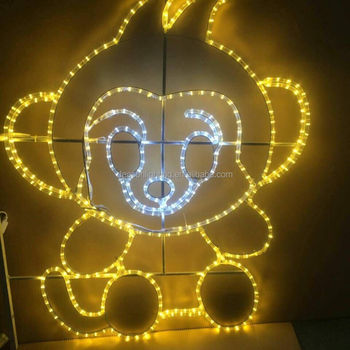 christmas led figures monkey rope light motif buy christmas lights