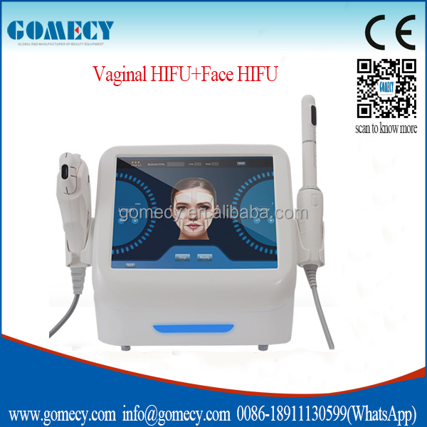 Portable air cooler 2 in 1 hifu facial anti aging /facelift Hifu transducer multifunctional beauty equipment