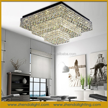 Modern Steel Led K9 Crystal Chandelier Ceiling Light