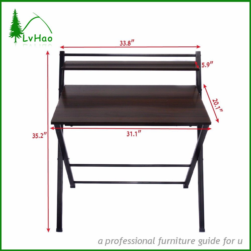 2  Tier Foldable And Portable Wooden Study Table Design For Kids