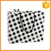 High quality custom custom plaid paper bag with logo print