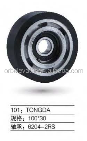 TONGDA escalator step roller 100*30