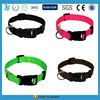 Green dog collar with quick release buckle nylon collar