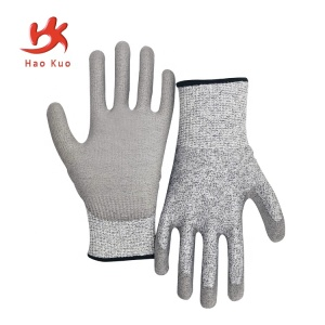 china pvc coated winter working gloves safety anti slip nitrile coated work gloves