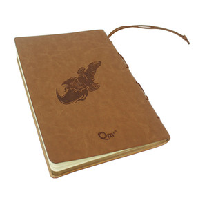 New Custom A5 Journal Diary PU Leather Cover Notebook With Pen Loop